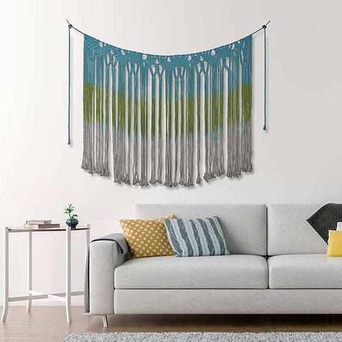 Bohemian MacraFringe Banner Large Boho Handmade Tapestry