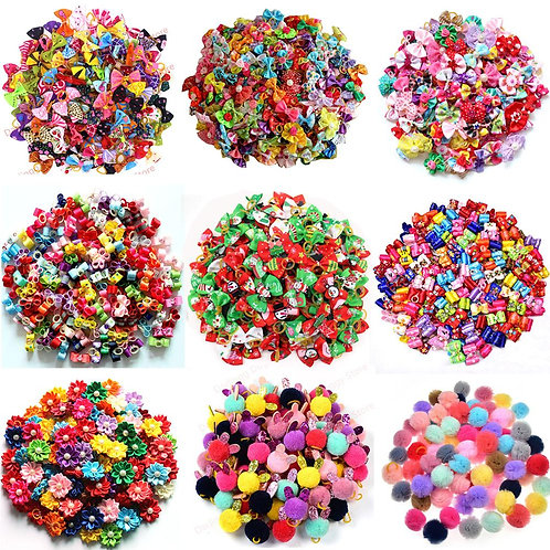 20PCS Pet Bows Dog Hair Bows