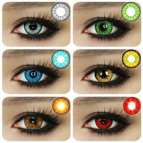2 Pieces / Pair of Beautiful Student Eye Cosmetics Color
