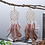 Thumbnail: Bohemian Feather Tassel Earrings