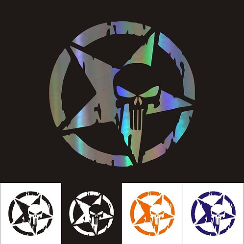 13cm*13cm Car Stickers Pentacle Five-Pointed Star Skulls