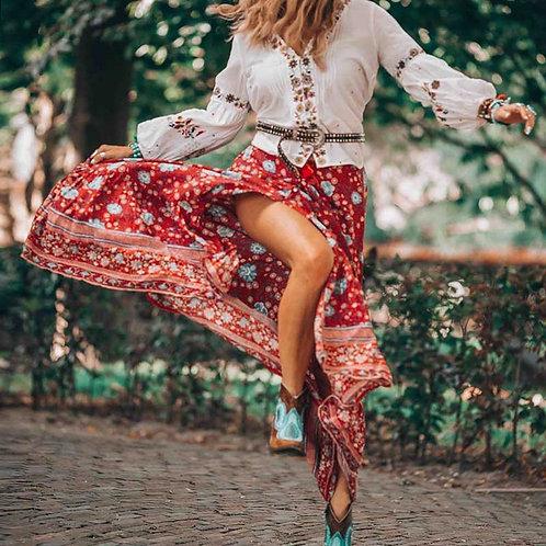 BOHO INSPIRED Button Down Skirts Women  Boho Skirts New Faldas 2020