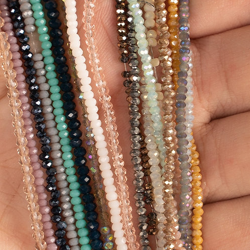 1mm 190pcs Multicolor Austrian Faceted Round Crystal Beads