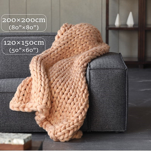 80x80 Inches Luxury Knit Chunky Throw Blanket