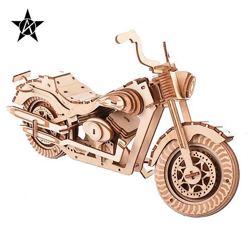 AILINNA Wooden DIY Harley Davidson Motor Assemble