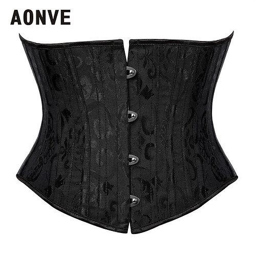 Aonve Steel Boned Underbust Corset Women Steampunk