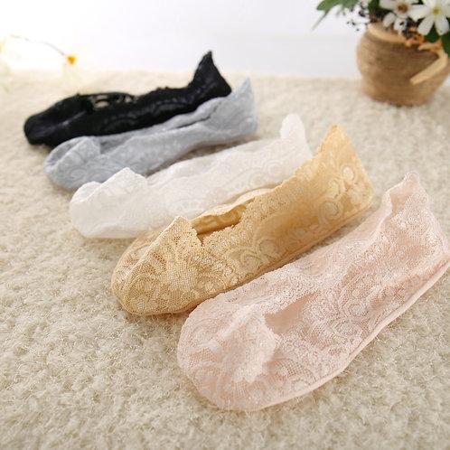5 Pairs Fashion Women Girls Summer Thin Socks Non-Slip Sock  Ankle Socks