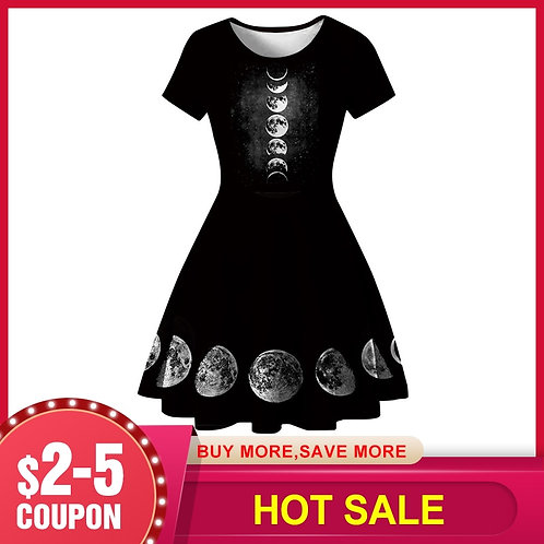 2020 Summer Sexy Gothic Mini Dress Vintage