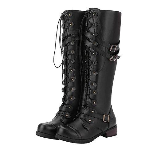 Boots Women Knee-Hight Boots Winter Warm Steampunk