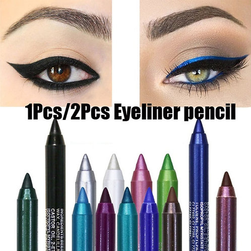 2pcs Professional Makeup Eyeliner Silver Rose Gold Color Glitter Long Lastin