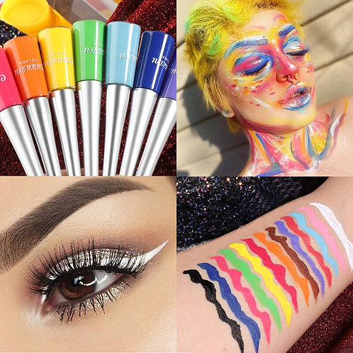 12 Colorful Eyeliner Pencil