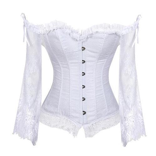 5xl Plus Size Lace Blouse Shirts Vintage Steampunk Victorian