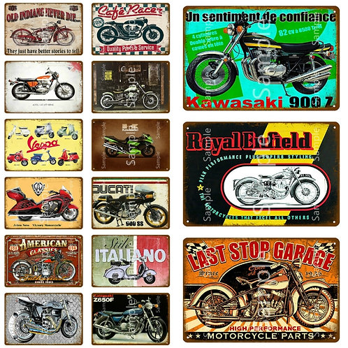 American Classic Motorcycle Metal Sign Home Decor Vintage
