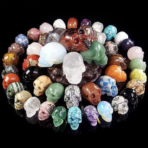 1pc Mini Natural Healing Gemstone Crystal Skull Stone