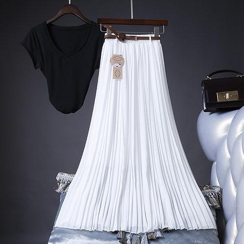 2020 High Quality Women Summer Skirt High Waist Vintage