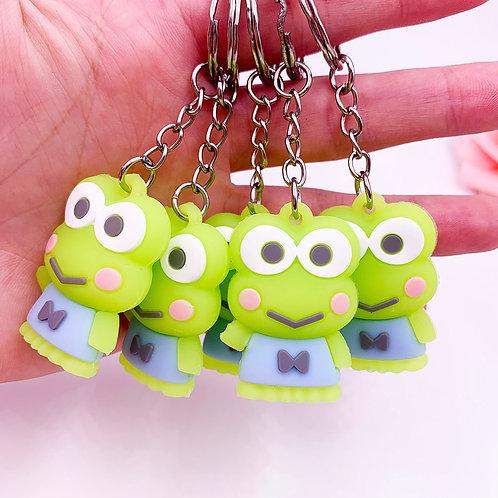 1pc New Cute Cartoon Animal Big Eye Frog Keychain