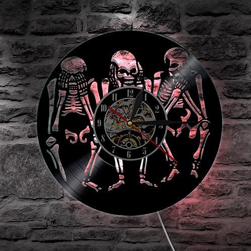 1Piece Evil Skull LED Lighting Wall Light LED Wall Clock for Skull Lover