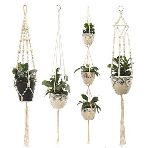 2020 Vintage Macrame Plant Hangers Cotton Hanging Baskets