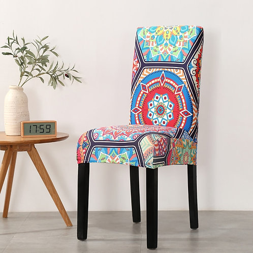 Boho Style Printed Stretch Slipcover Chair Cover Chair Elastic