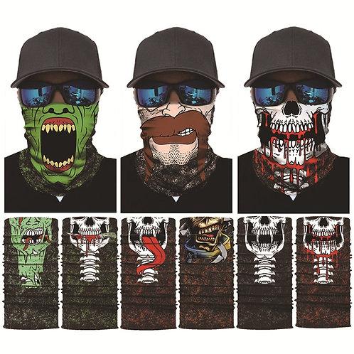 3D Seamless Magic Bandana Joker Clown Ghost Skull  Headwear