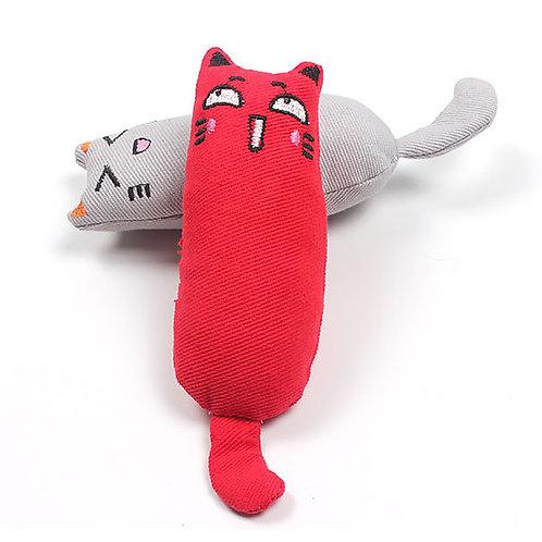 1Pc Mini Cute Pet Plush Toys Claws Thumb Bite Cat Mint