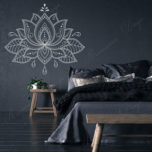 Big Size Lotus Flower Mandala Wall Stickers Vinyl Home Decor