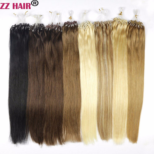 """1g/S 16""""-22""""  Remy Loop Micro Ring Hair 100% Human Hair Extensions  50s/Pack"""