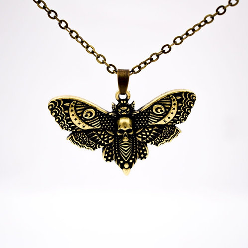 12pcs Vintage Dead Skull Death's Head Moth Necklace Insect Jewelry