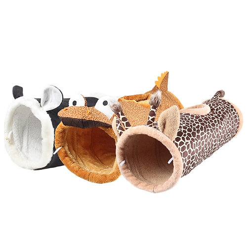 Animal Shaped Cat Tunnel Warm Plush Funny Toys for Cats