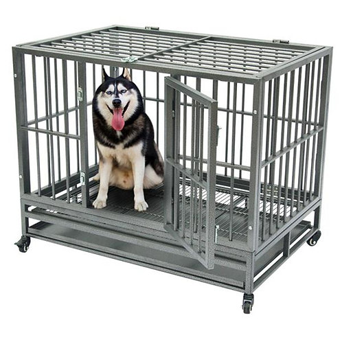 """36""""/42"""" Heavy Duty Dog Cage Crate Kennel Metal Pet Playpen"""