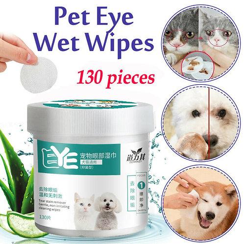 130 PCS/A Lot Pets Dogs Cats Wipe Pet Eye Wet Wipes