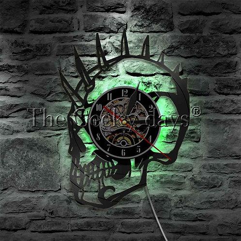 1Piece Punk Skull LED Lights Mohawk Mohican Dead Skull