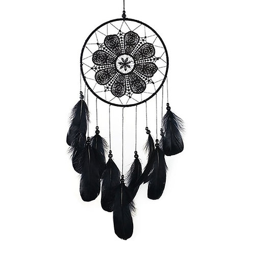 Big Deal Handmade Dream Catchers Black Feather Lace