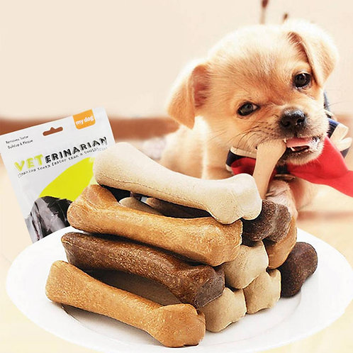 30Pcs Dog Bone Molar Stick Snack Food Treats Chews Oral