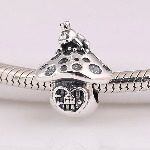 Authentic S925 Silver Bead DIY Jewelry Frog & Mushroom