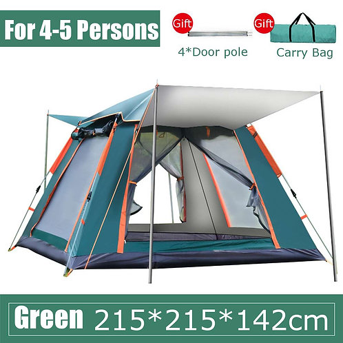 4-5 People Throw Tent Outdoor Automatic Tents Double