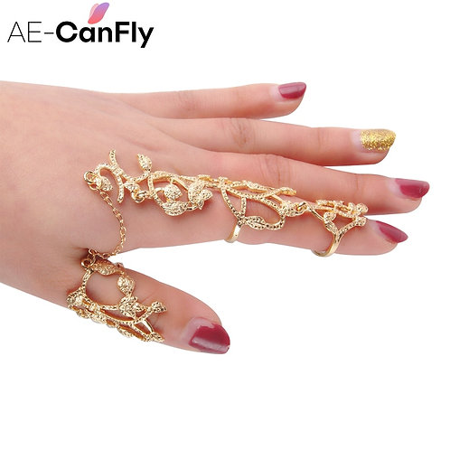 AE-CANFLY 2020 New Fashion Hollow Flower Full Finger
