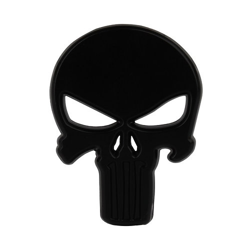 1pc Car Styling 3D Sun-Proof Stickers Metal Punisher Skull