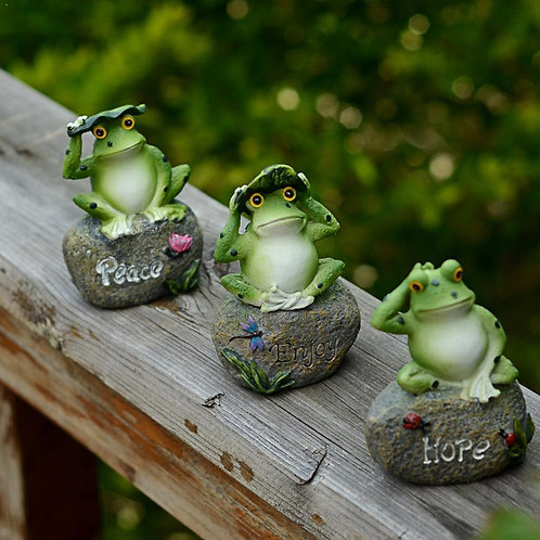 1pc Frogs Random Creative Resin Frog Animal Ornaments