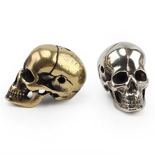 Brass Skull Knife Beads Umbrella Rope Bead Outdoor Vintage Skull Paracord Beads