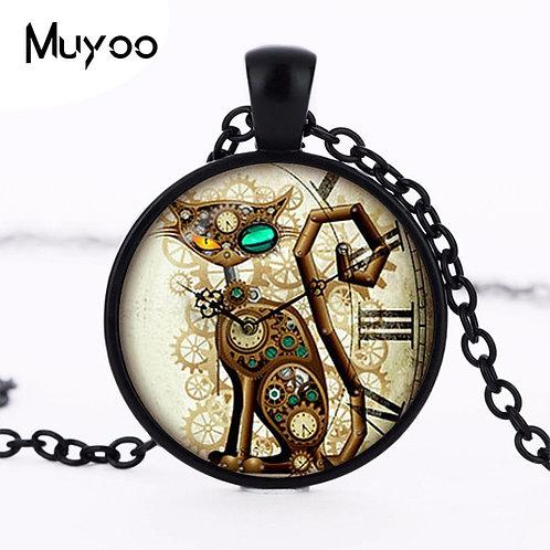 2017 New hotSteampunk Cat Pendant Steampunk