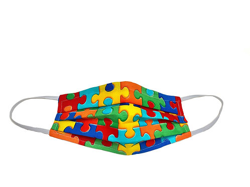Autism Awareness BIG Puzzle - Surgical Style Designer Face Mask