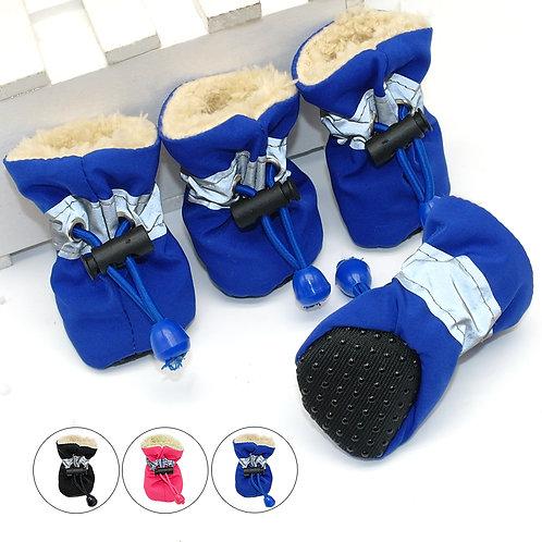 4pcs Antiskid Puppy Shoes Pet Protection Soft-Soled Pet Dog Shoes