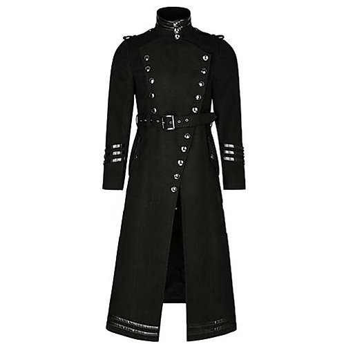 Cosplaydiy Plague Doctor Vintage Punk Gothic Mens Jacket