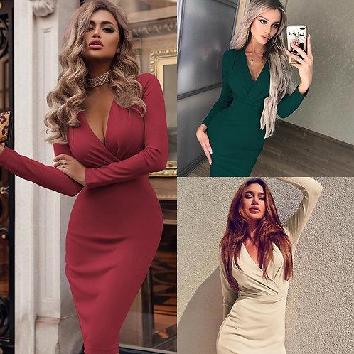 2021 New Women's Sexy Bodycon White Dress