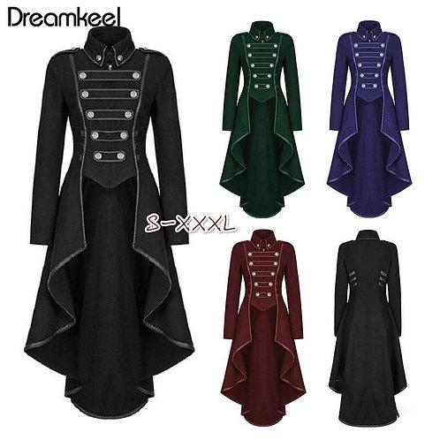 2019 Coat Women Vintage Steampunk Long Coat Gothic