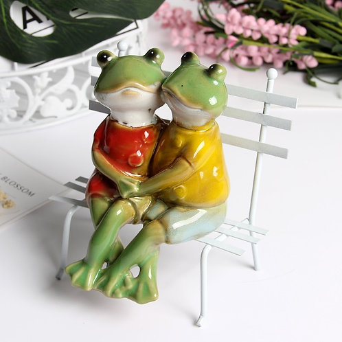 2019 New Model Decoration Ceramic Frog