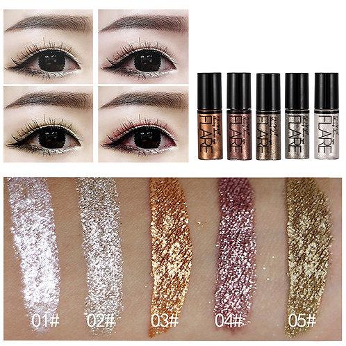 5 Color Metallic Shiny Eyeshadow Glitter Liquid Eyeliner