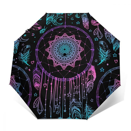 Automatic Umbrella Rain Women  UmbrellaBoho Dreamcatcher Windproof Umbrella