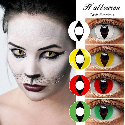 2pcs (1 Pair) Cat Eye Series Halloween Cosplay Soft Color